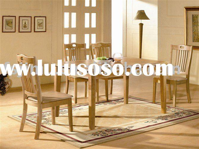 good solid wood square table dining furniture set