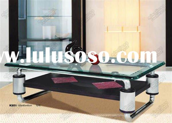 luxury modern design stainless steel stand glass top coffee tables