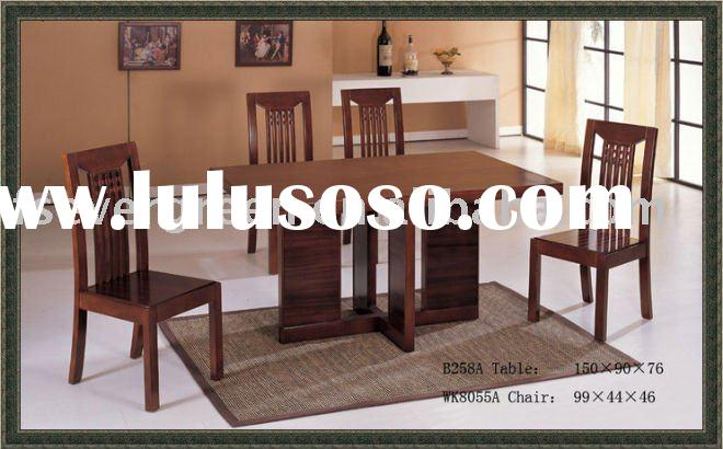 mango wood dining table EB258A and chairs EWK8055A