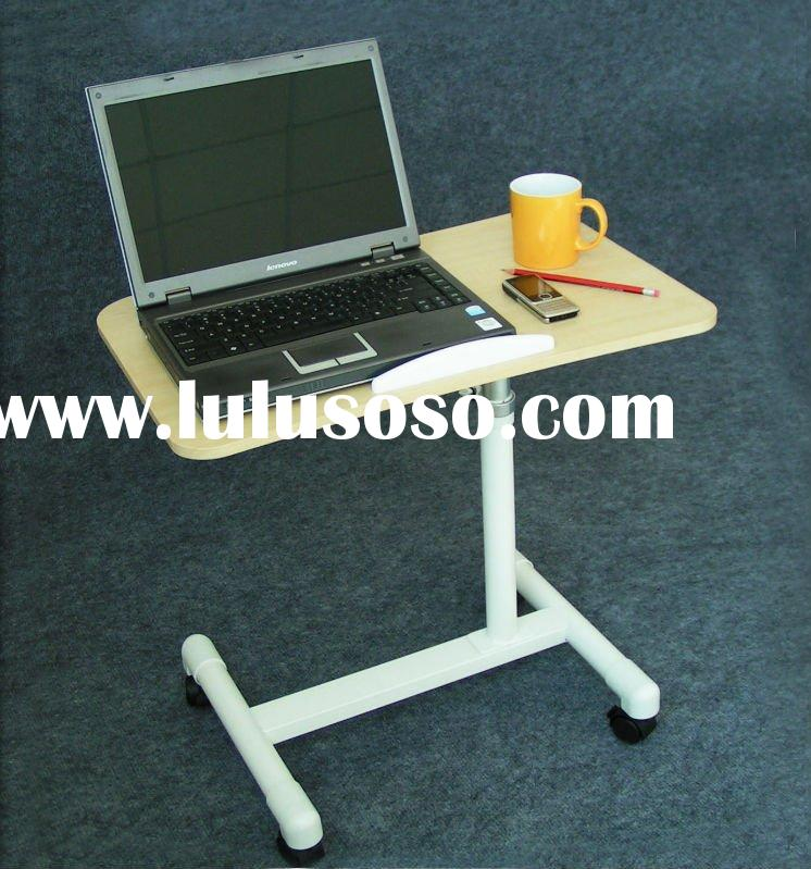 mini wood table for laptop, with four wheels
