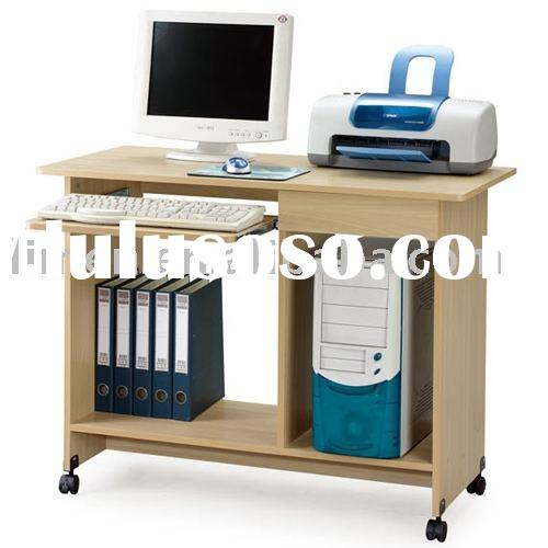mobile computer table,wooden office table,home office furniture,student table