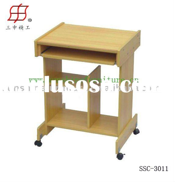 movable simple small wooden computer table desk