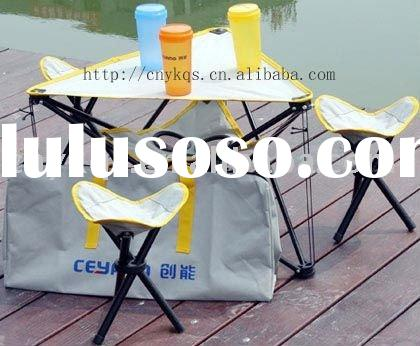 outdoor table with portable chair (amping table and stool,travel table and stool)