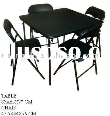 plastic folding chair AND TABLE