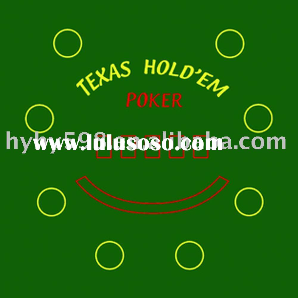 poker felt, poker mat, casino table top, blackjack felt, blackjack layouot, folding poker table top,