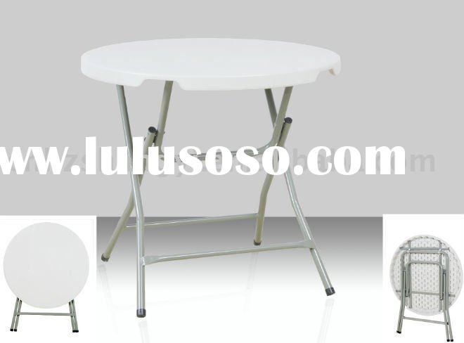 popular small round foldable cafe table for promotion