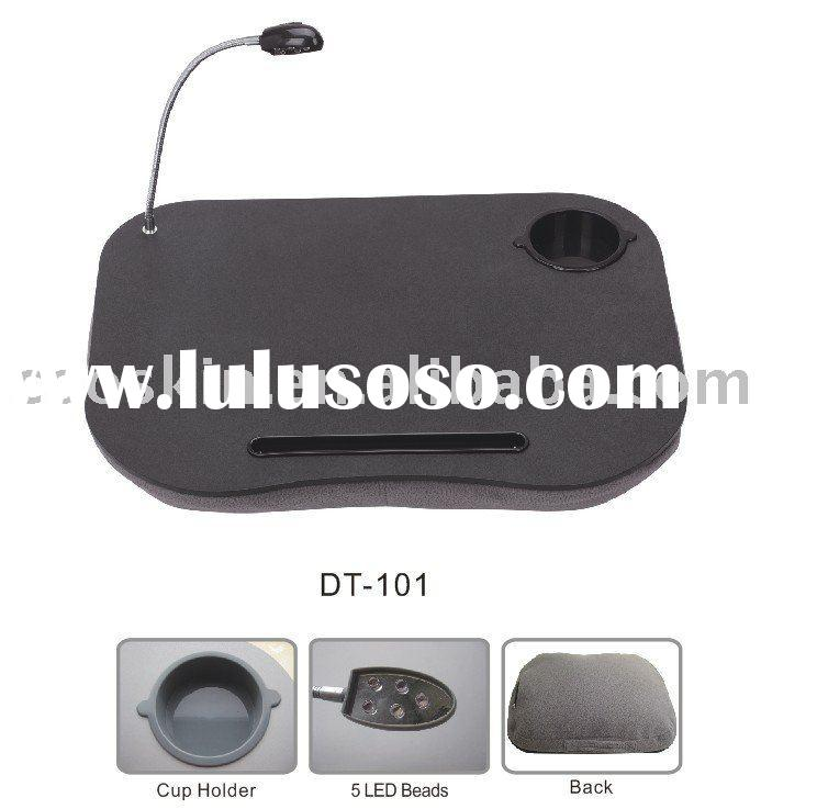 portable cushion laptop tray/table light/pen/cup holder