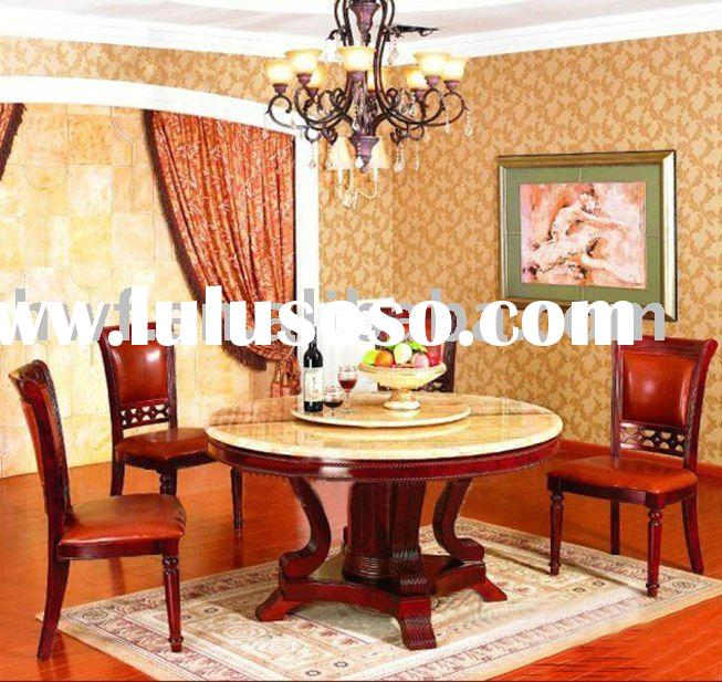 round marble top dining table set