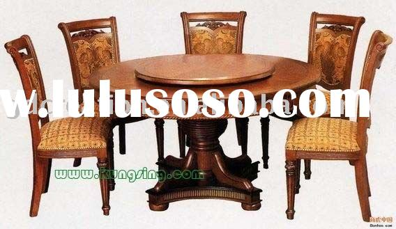 round wooden dining table sets