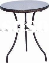 small wicker dining table
