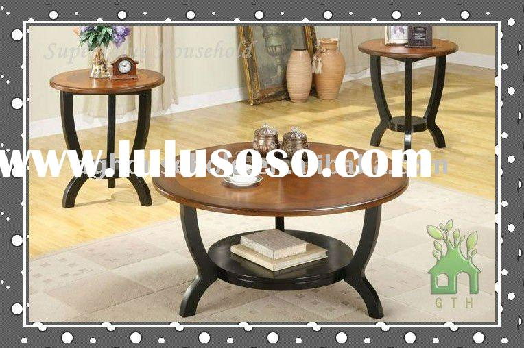 super value Royal 3pcs coffee table sets with fancy veneer