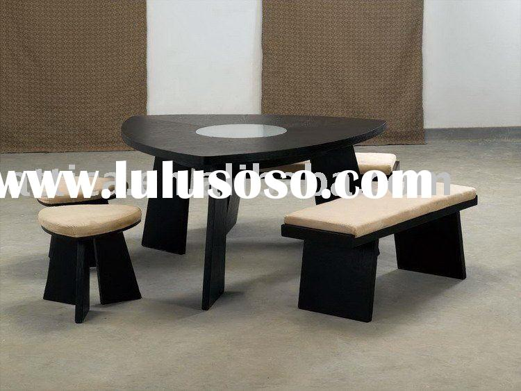 triangle wood dining set