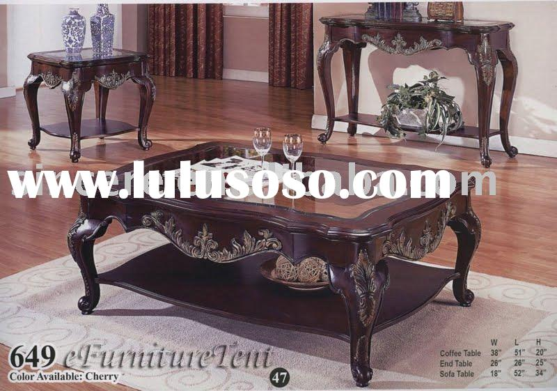 wood coffee table/wood table/wood coffee table set