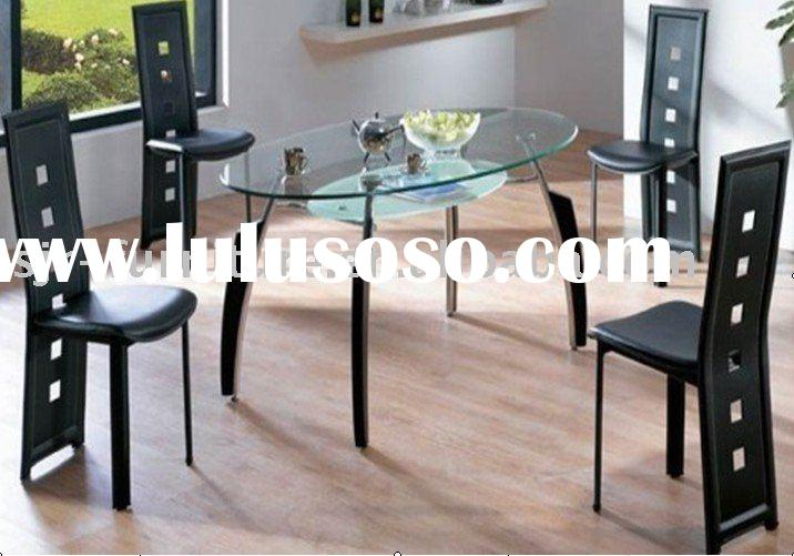 wood& glass dining table