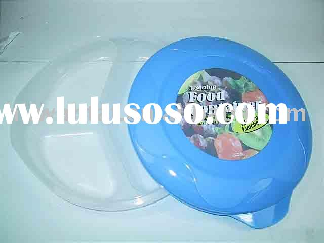 3 Sections Plastic Container (Round)