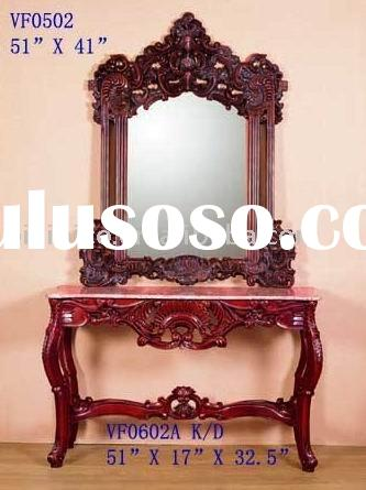 American style console table and mirror,console table set