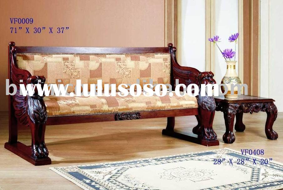 American style solid wood sofa,bench,fabric sofa,side table,living room sofa set,classical home furn