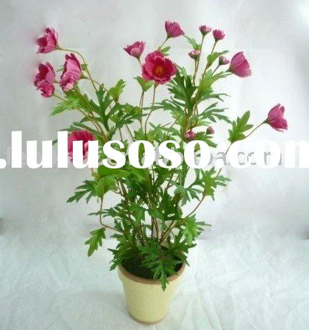 Artificial Flower arrangement - Cosmos in Mache Pot for home decoration