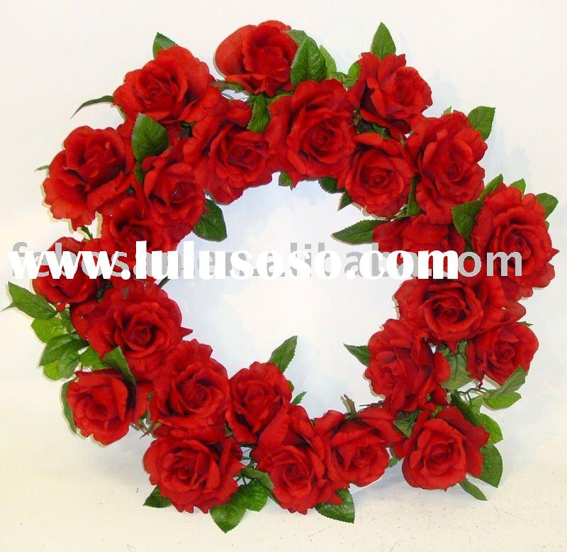 Artificial flower wreath / Silk flower wreath / Decorative flower wreath -  ROYAL ROSE WREATH