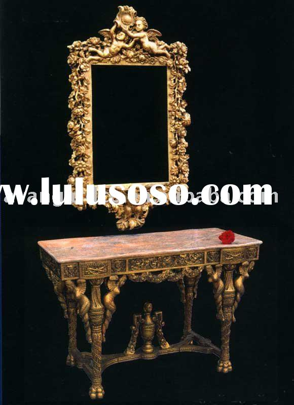 Classical luxury French console table,mirror,European furniture