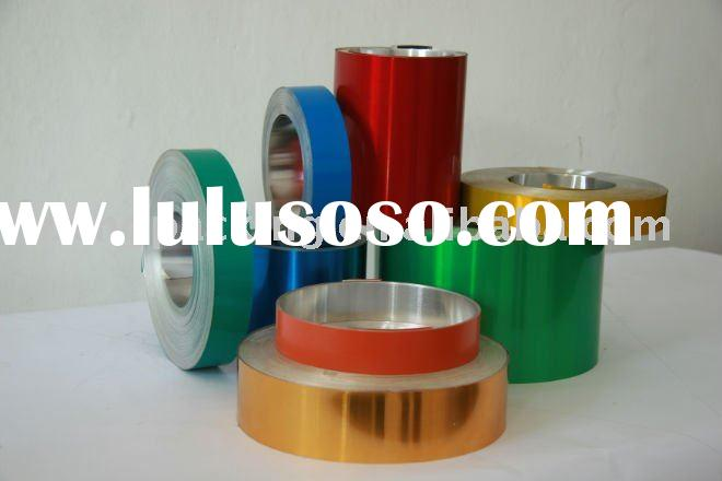 Colored coating aluminum foil