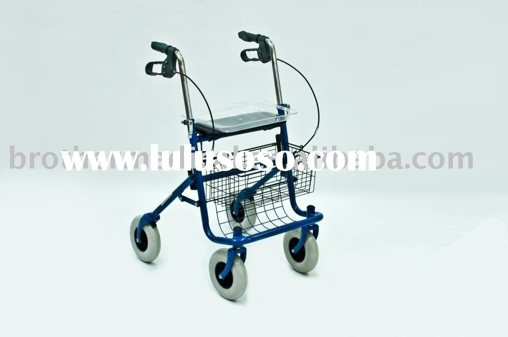 Deluxe 4-wheeled Bariatric Rollator-Blue