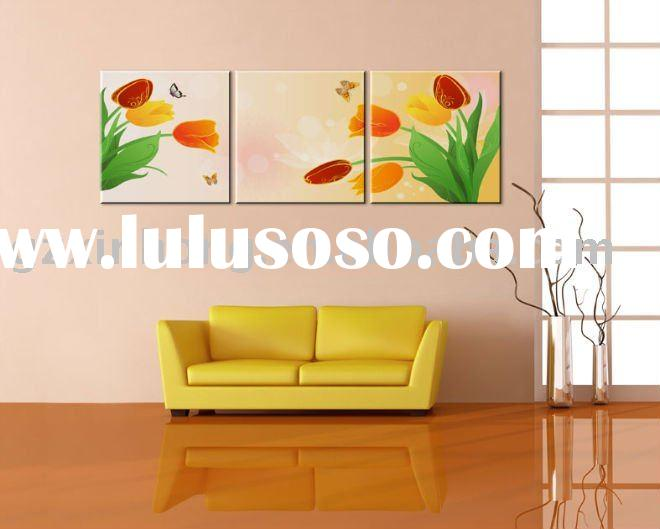 High Quality Flower Tulip Home Decoration Painting,Frameless painting,Orname, ornamental painting