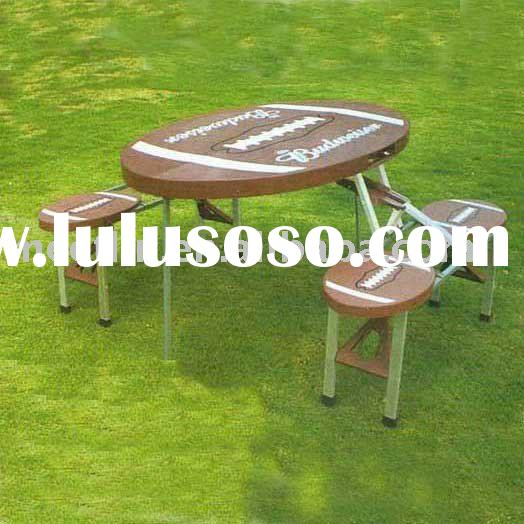 Portable outdoor folding table and chair ML-099