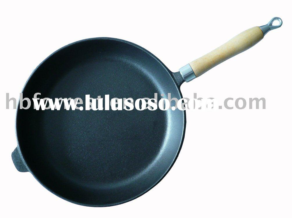 Round frying pan, round cast iron frying pan, pizza pan