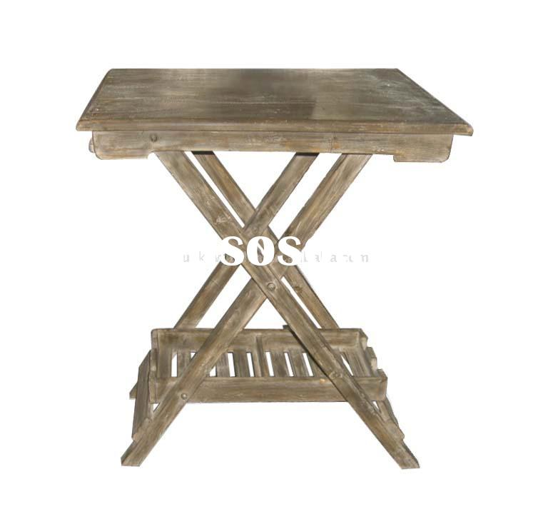 Shabby and chic wooden folding table