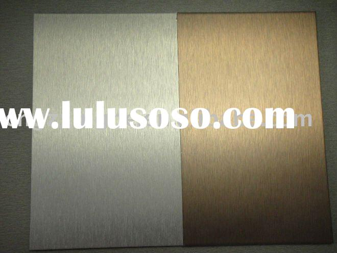 Silver and Golden Brushed aluminum composite panel