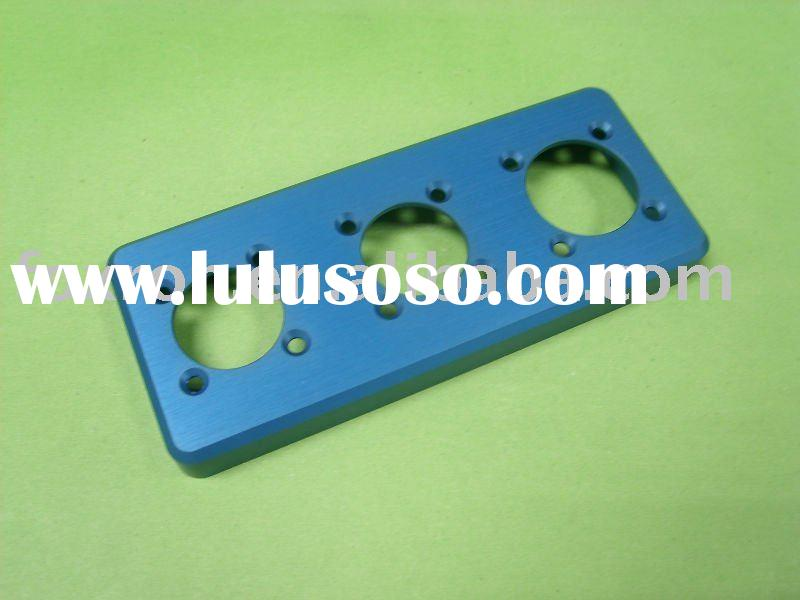 blue colour precision cnc machined part