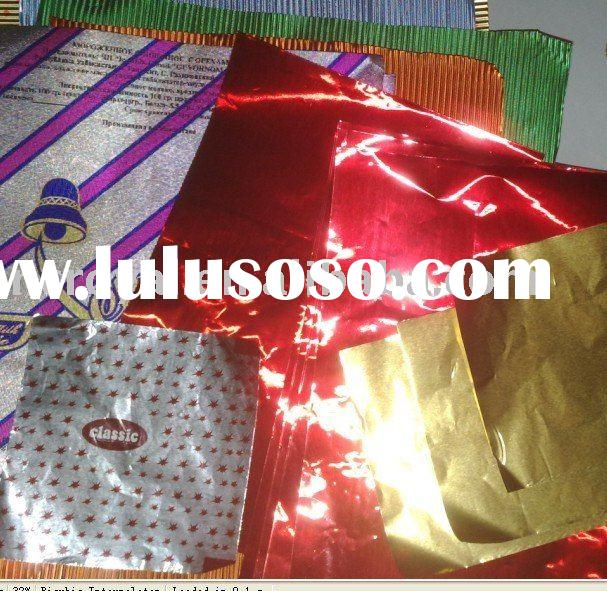 chocolate wrapping aluminum foil