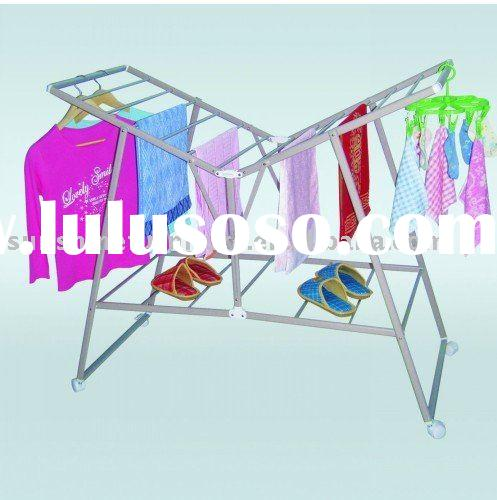 outdoor folding metal laundry clothes drying rack