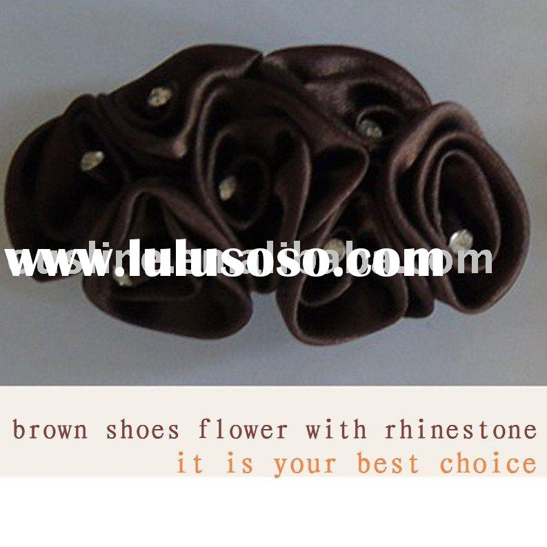 shoes flower,hair flower with rhinestone