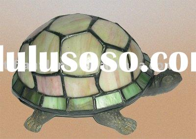 small table lamp, home decor lamp, tiffany turtle lamp