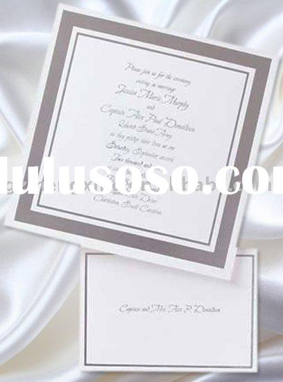 wedding decoration card with classical border and nice thank you card-U007