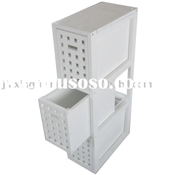 white 3-drawer decorative storage box
