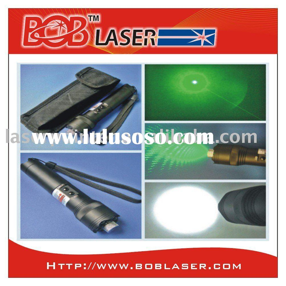 100mw powerful green laser star with 6 led light