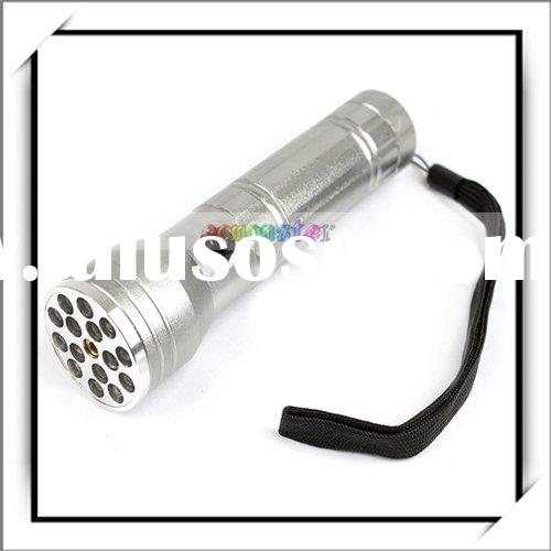 5mW 15 LED Flashlight Waterproof Camping Red Laser Pointer