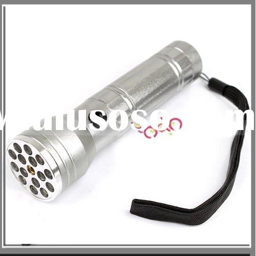 5mW 650nm 15 LED Flashlight Waterproof Camping Red Laser Pointer