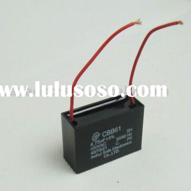 Best price CBB61 wire ceiling fan capacitor 4.75uF