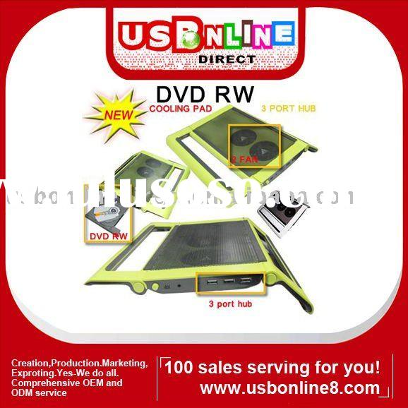 DVD Burner DVD RW with cooling pad usb Hub Paypal