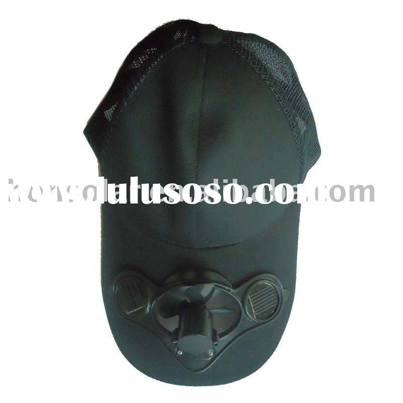 Solar cooling hat, turning automatically under the sun, power from solar, 100% pure cotton, 5 color