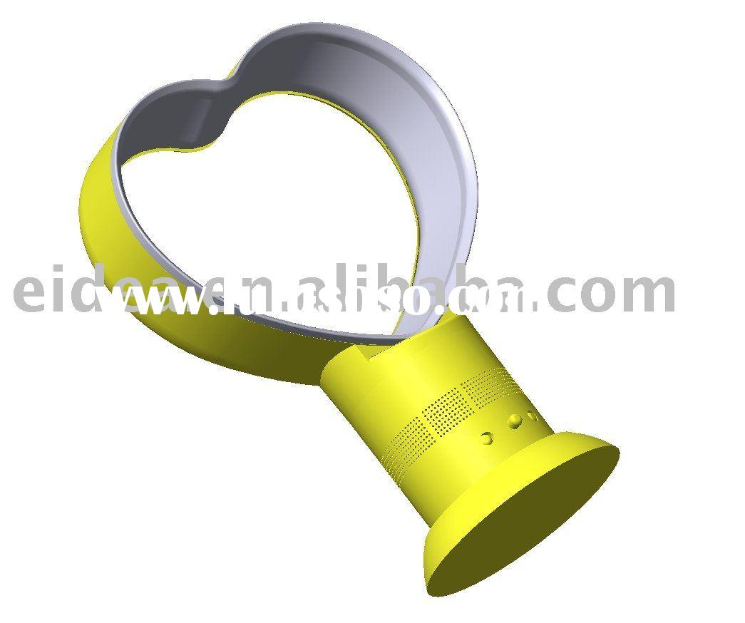 heart shape safe air cool fan without blade