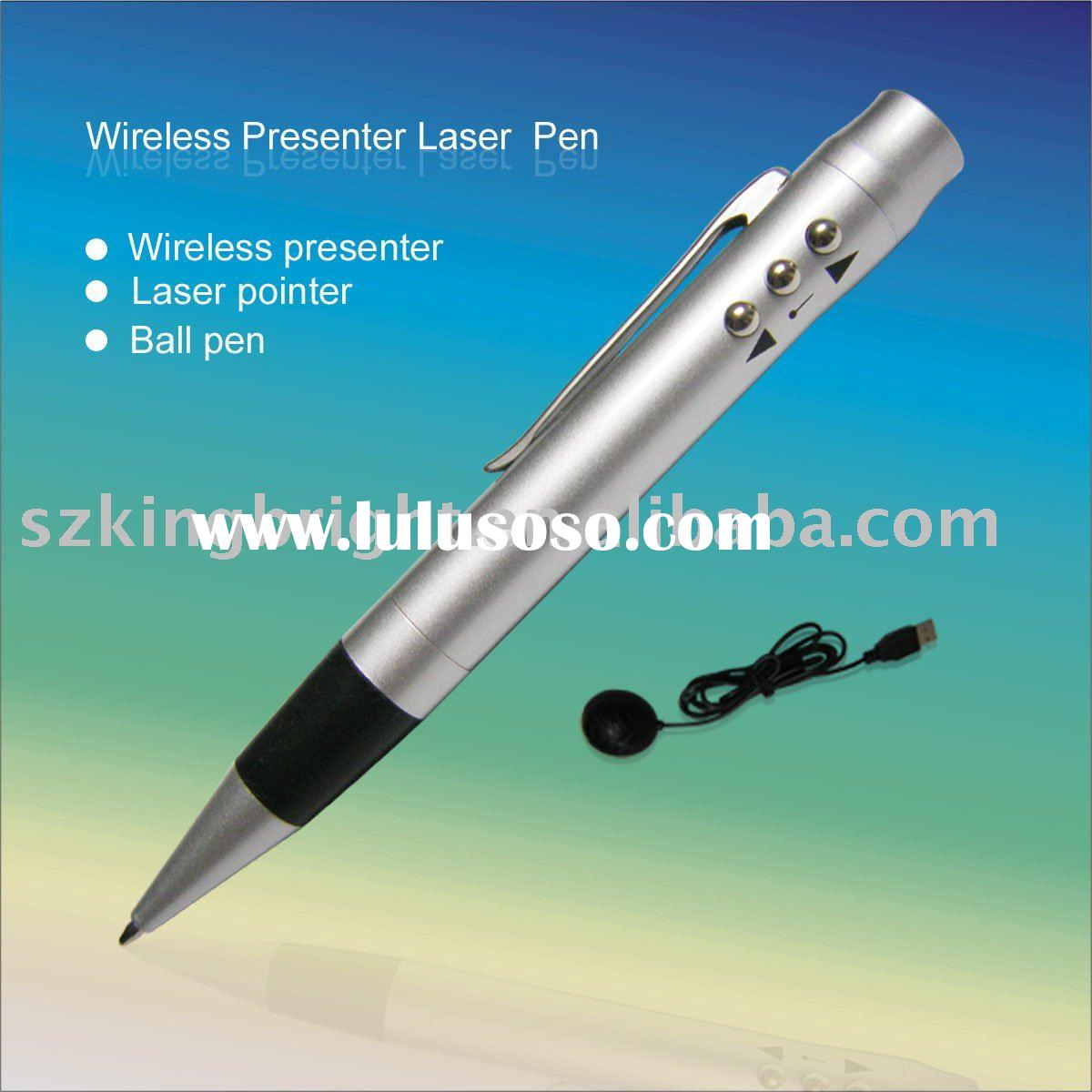 pen style wireless presenter with red laser pointer