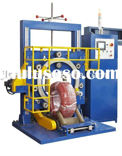 plastic pipe coil wrapping machine ( tube packing machine,rubber tube packing machine )