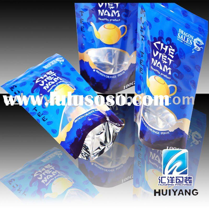 plastic recycled stand up foil bag with zipper