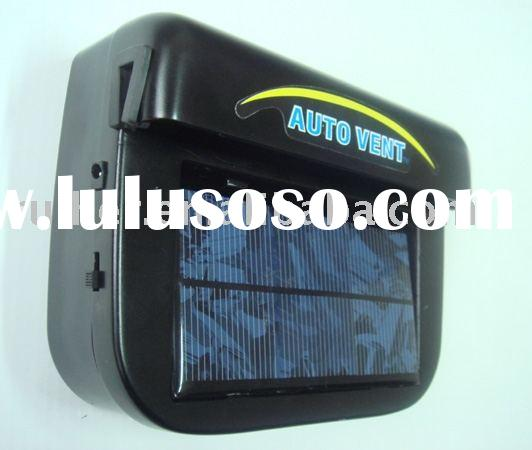 solar auto cooler, solar car fan, solar powered auto cooler