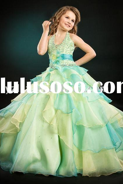 2011 new style FG2213 lovely backless girl pageant dresses/flower girl dresses